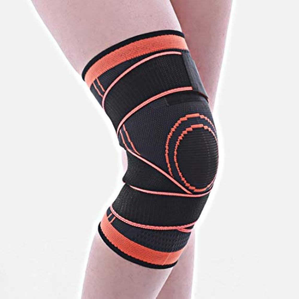 シェトランド諸島不承認ライトニングCAFUTY ニットの動き膝の圧力のサイクリングバスケットボールのフィットネスの 巻き上げ装置のメンテナンス1個 (Color : オレンジ, サイズ : M)