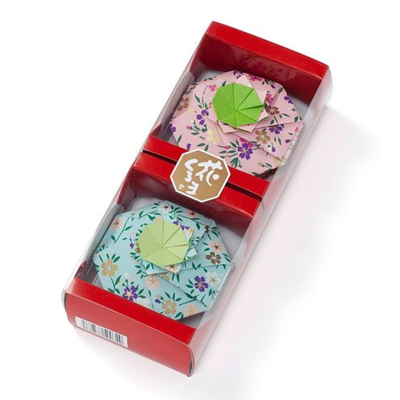 藤色トン高音松栄堂 匂い袋 花くるま 2個入 はなくるま (全6色)(色おまかせ、もしくは色指定の場合はメッセージ欄へ)