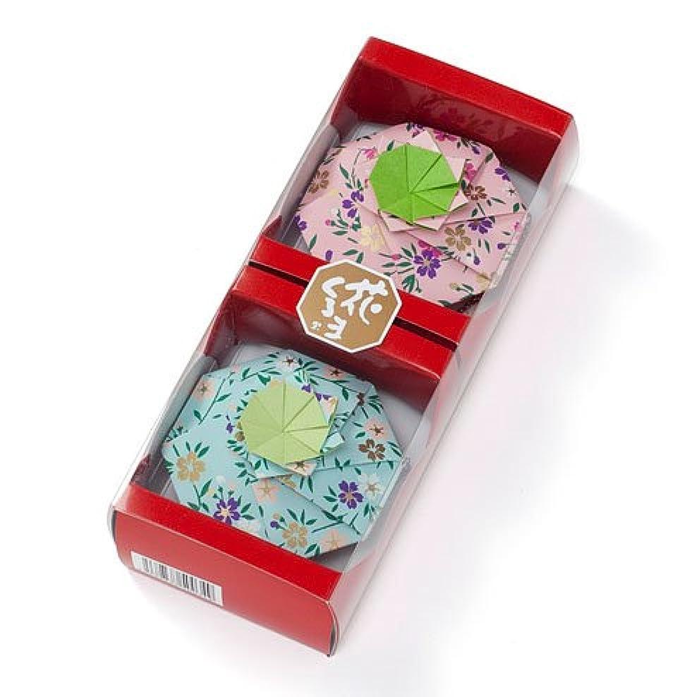 松栄堂 匂い袋 花くるま 2個入 はなくるま (全6色)(色おまかせ、もしくは色指定の場合はメッセージ欄へ)