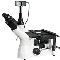AmScope 40X-1000Xスーパー広視野偏光冶金倒立顕微鏡+ 5MPデジタルカメラ