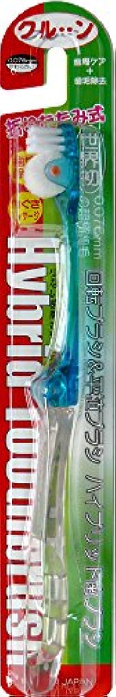 マウスピース型マオリ回転歯ブラシ ハイブリッドクルン ブルー 折りたたみ