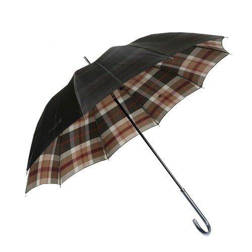 【MACKINTOSH LONDON】マッキントッシュ 裏地ハウスチェック 婦人長傘(雨傘) 黒