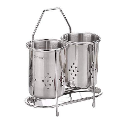 POTOLON お箸 スプーン入れ キッチン 収納 水切りポケット 水抜き穴付き ステンレス製