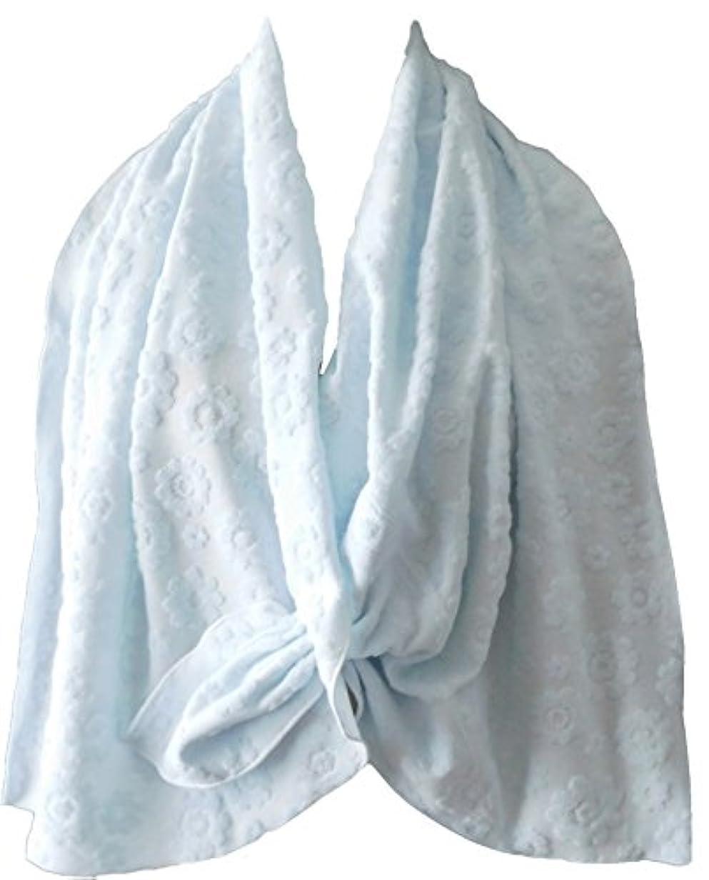 妥協設置テザー乳がん術後 温泉旅行に <温泉タオルン> 単品 ブルー 温泉タオル 巻きタオル ラップタオル プリンセスのんの