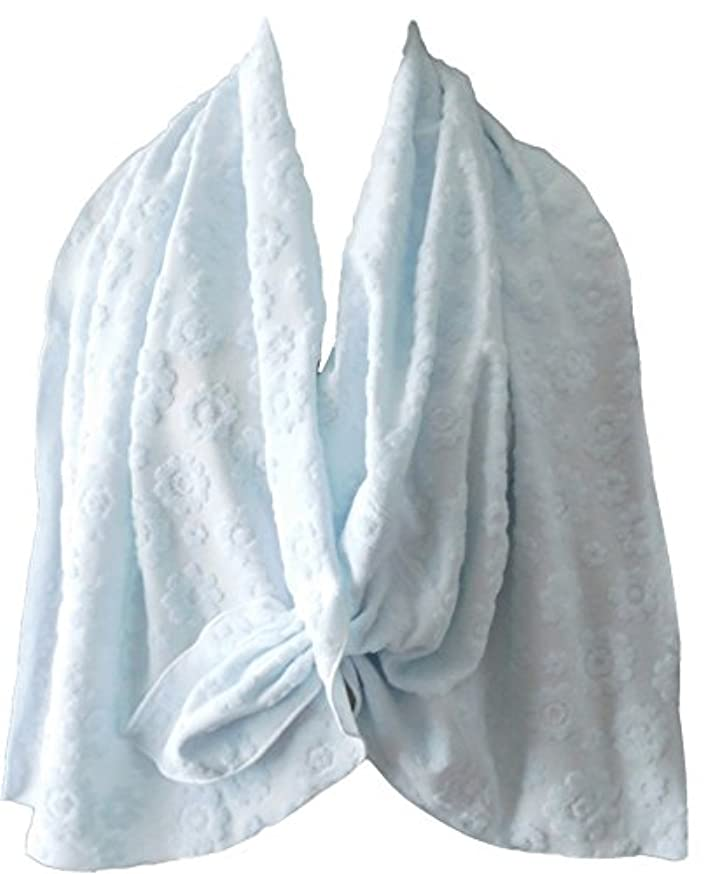 自明異邦人分類する乳がん術後 温泉旅行に <温泉タオルン> 単品 ブルー 温泉タオル 巻きタオル ラップタオル プリンセスのんの