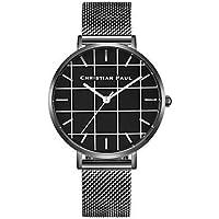 Women's Wrist Watch Japanese Quartz Chronograph Cute Creative Stainless Steel Band Analog Bangle Minimalist Black/Silver - Black Silver Light Black Two Years Battery Life