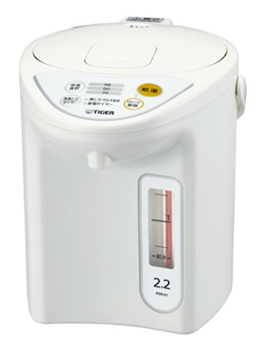 タイガー 魔法瓶 マイコン 電気 ポット 2.2L ホワイト...