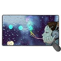 マウスパッド 窓 雨 結露 女の子 音楽 マッチ ゲーミング用 事務所 高級感 大型 快適 キーボードパッド プリント 防塵 耐久性 撥水性 レーザー&光学式マウス対応でき 滑り止め
