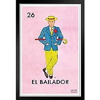 ぶら下げ絵画 - ヨーロッパとアメリカのスタイル壁画 - 26エルバイラドールダンサーロテリアカードメキシコ - 装飾美術の絵画-39x31cm