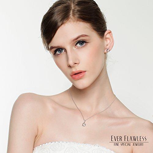 EverFlawless スワロフスキー ジルコニア採用 シルバー 925純銀製 チェーン 40cm レディース ネックレス ラッピング3点セット