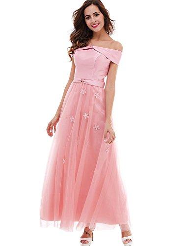 [해외]KiniKiss 여성 롱 기장 꽃과 웨딩 드레스 정장 드레스 레이스 업 스테이지 드레스 연주회 발표회 드레스 부드러운 츄루 레스 전환 공주 계 원피스/KiniKiss Ladies long length flower wedding dress formal dress lace up stage dress concert pres...