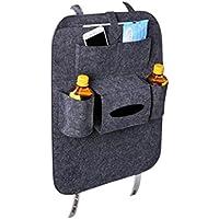 VORCOOL Car Seat Backオーガナイザー6-pocket Kids Toys for Ipadティッシュボックスペン(ダークグレー)