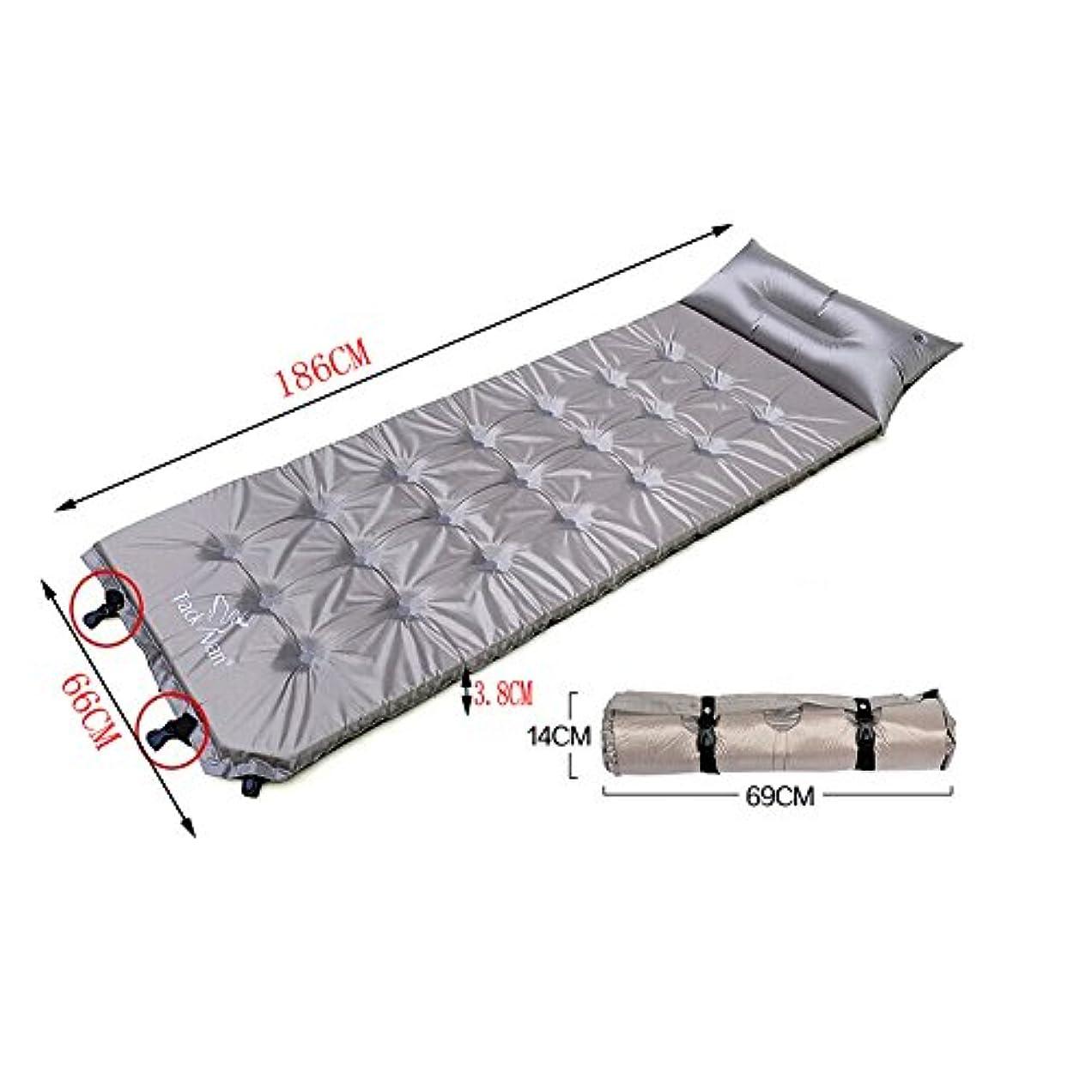 保全ステージ今日軽量Sleepingマットマットレス膨らむパッドと枕、グレー