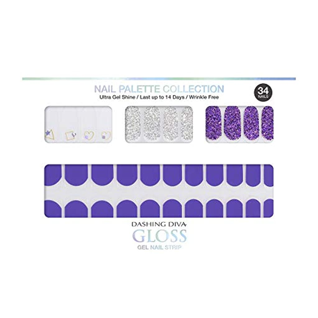 狂乱報復する頑丈ダッシングディバ グロスジェル ネイルストリップ DASHING DIVA Gloss Gel Nail Strip DGNP11-DURY+ オリジナルジェル ネイルシール Ice #11 Frozen Grape