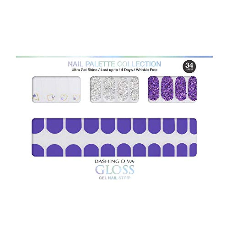 奨学金ファンブルホームダッシングディバ グロスジェル ネイルストリップ DASHING DIVA Gloss Gel Nail Strip DGNP11-DURY+ オリジナルジェル ネイルシール Ice #11 Frozen Grape