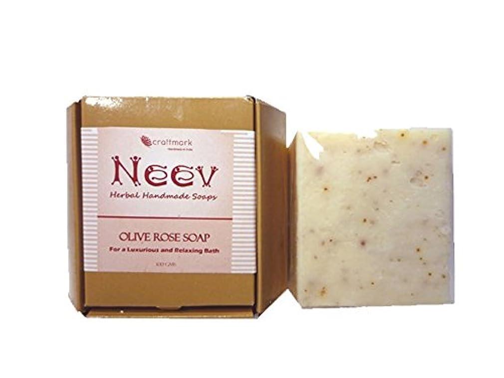 鉄そのクスクス手作り ニーブ OL ローズ ソープ NEEV Herbal OLIVE ROSE SOAP
