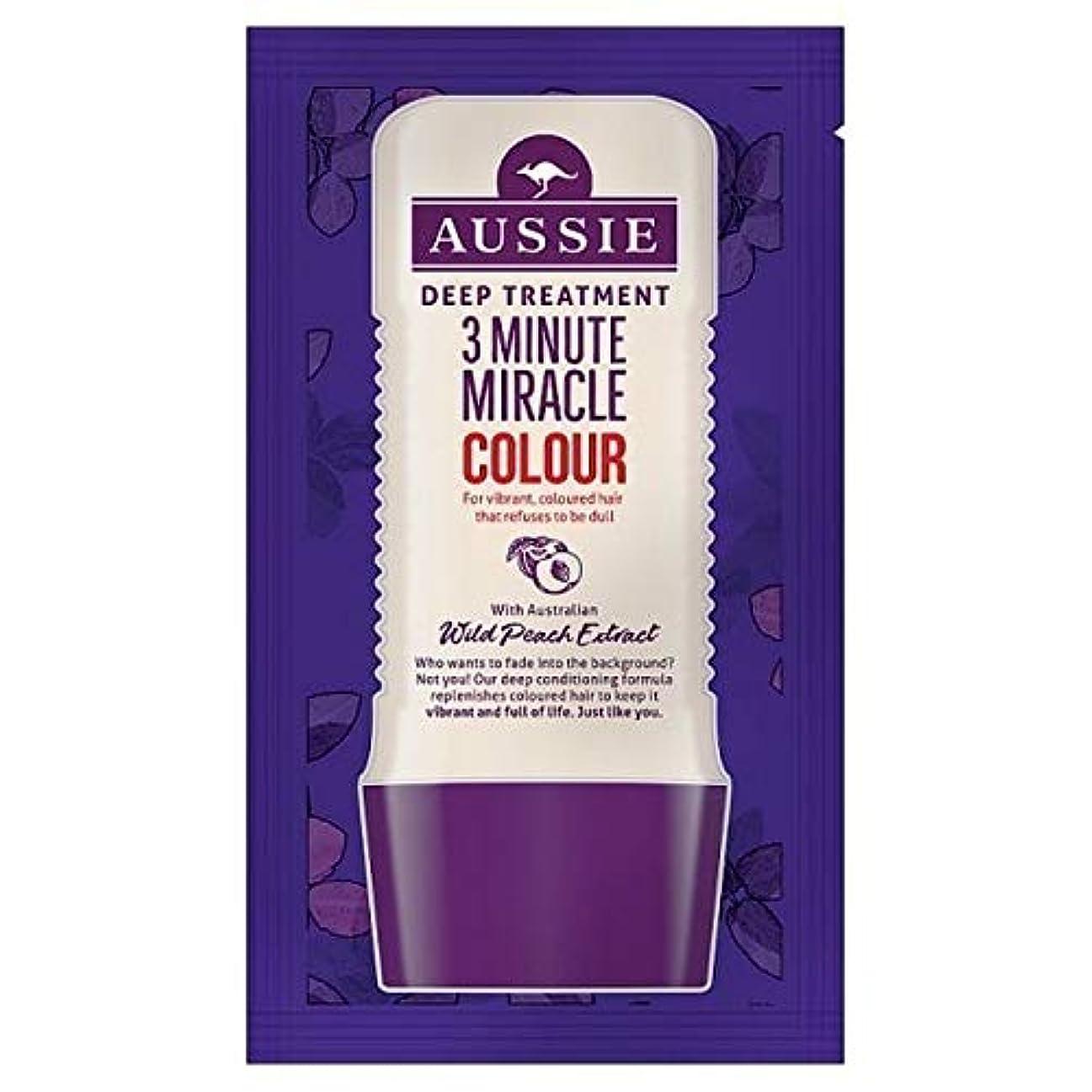 スキャン温度計スタッフ[Aussie ] オーストラリアの深い治療3分の奇跡カラー20ミリリットル - Aussie Deep Treatment 3 Minute Miracle Colour 20ml [並行輸入品]