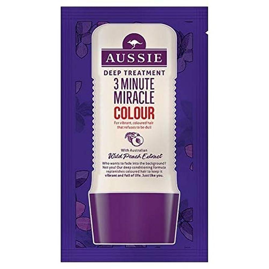 ステープルハーネス可能にする[Aussie ] オーストラリアの深い治療3分の奇跡カラー20ミリリットル - Aussie Deep Treatment 3 Minute Miracle Colour 20ml [並行輸入品]