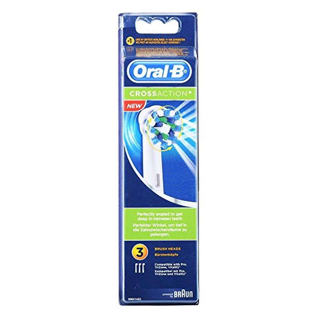 Braun Oral-B EB50-3 Oral-B CrossAction 歯ブラシ交換用ブラシヘッド 1Pack [並行輸入品]