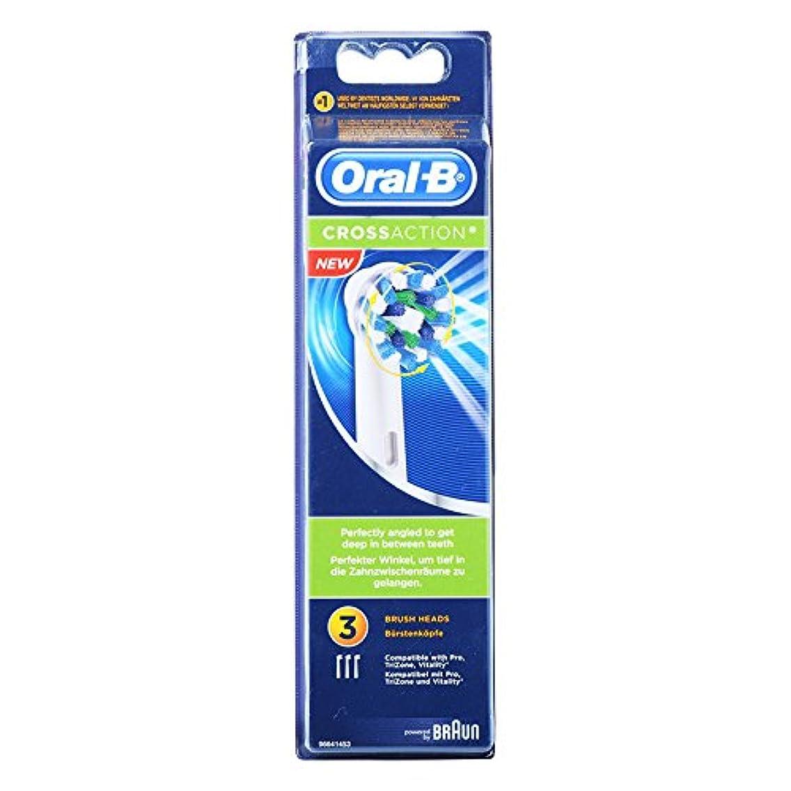 船霊考えBraun Oral-B EB50-3 Oral-B CrossAction 歯ブラシ交換用ブラシヘッド 1Pack [並行輸入品]
