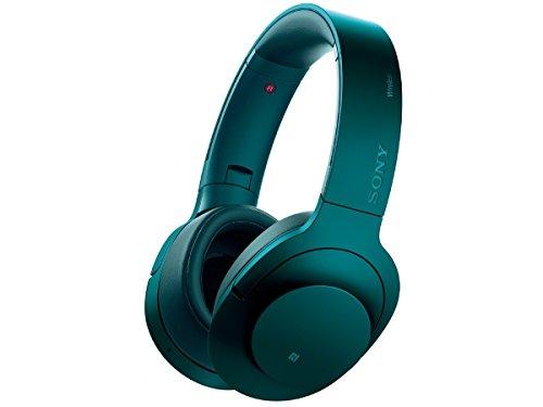 ソニー SONY ワイヤレスノイズキャンセリングヘッドホン h.ear on Wireless NC MDR-100ABN : ハイレゾ対応 Bluetooth/LDAC/NFC対応 マイク付き/ハンズフリー通話可能 ビリジアンブルー MDR-100ABN L