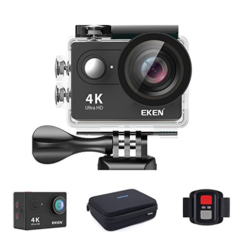 EKEN H9s アクションカメラ 4K LIVE対応 カメラ ビデオカメラ 「メーカー直販/1年保証付」 ウェアラブルカメラ アクションカム WiFi搭載 長時間バッテリー 充電器 完備アクセサリー(ブラック) 専用ケース ループ録画 防水ケース リモコン付き 1080p60fps キャリングケース梱包