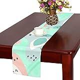 GGSXD テーブルランナー 面白い にわとり クロス 食卓カバー 麻綿製 欧米 おしゃれ 16 Inch X 72 Inch (40cm X 182cm) キッチン ダイニング ホーム デコレーション モダン リビング 洗える