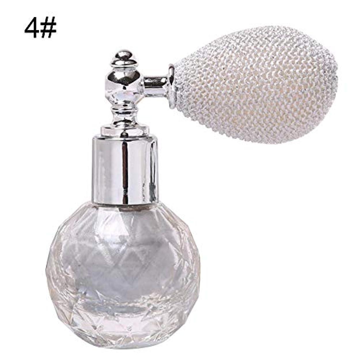 純粋に恨み上回るガラスボトル香水瓶 アトマイザー ポンプ式 香水瓶 クリア星柄ストリームラインデザイン シルバーワインスプレー 100ML ホーム飾り 装飾雑貨