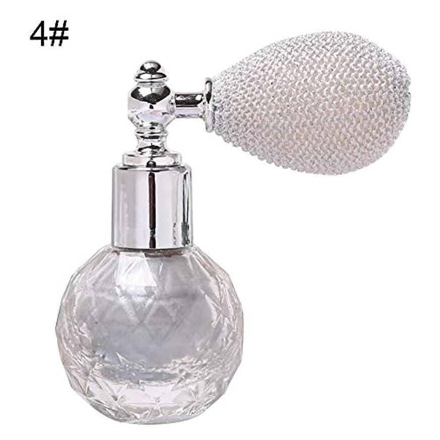 迅速異なるガラスボトル香水瓶 アトマイザー ポンプ式 香水瓶 クリア星柄ストリームラインデザイン シルバーワインスプレー 100ML ホーム飾り 装飾雑貨