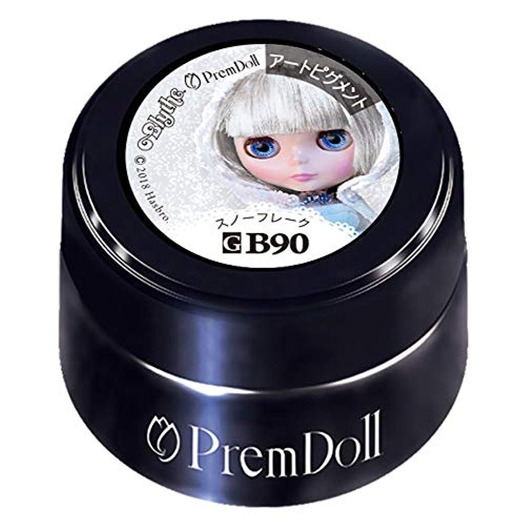 何もない上昇女性PRE GEL プリムドール スノーフレーク90 DOLL-B90 3g カラージェル UV/LED対応