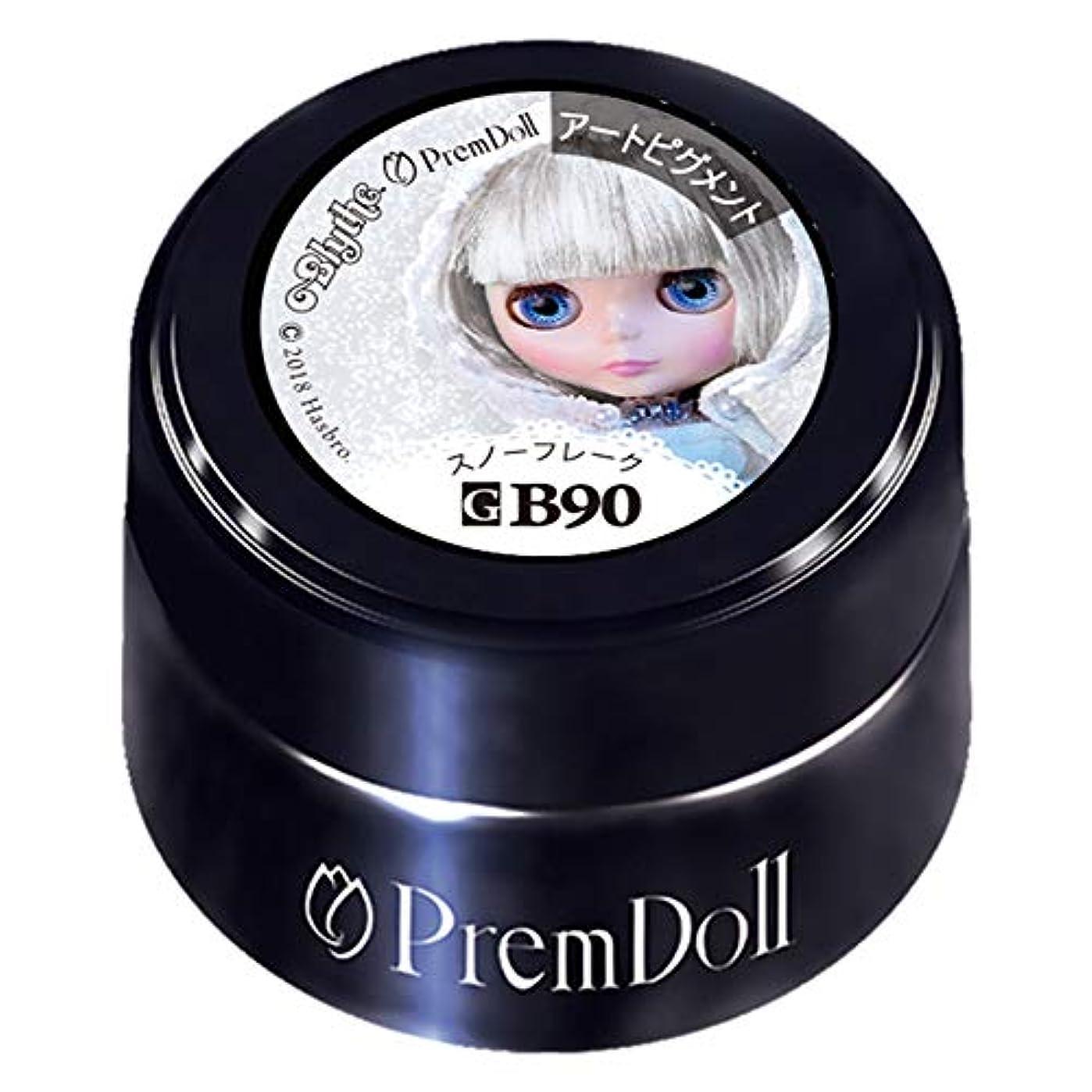 ぬいぐるみ文献開発PRE GEL プリムドール スノーフレーク90 DOLL-B90 3g カラージェル UV/LED対応