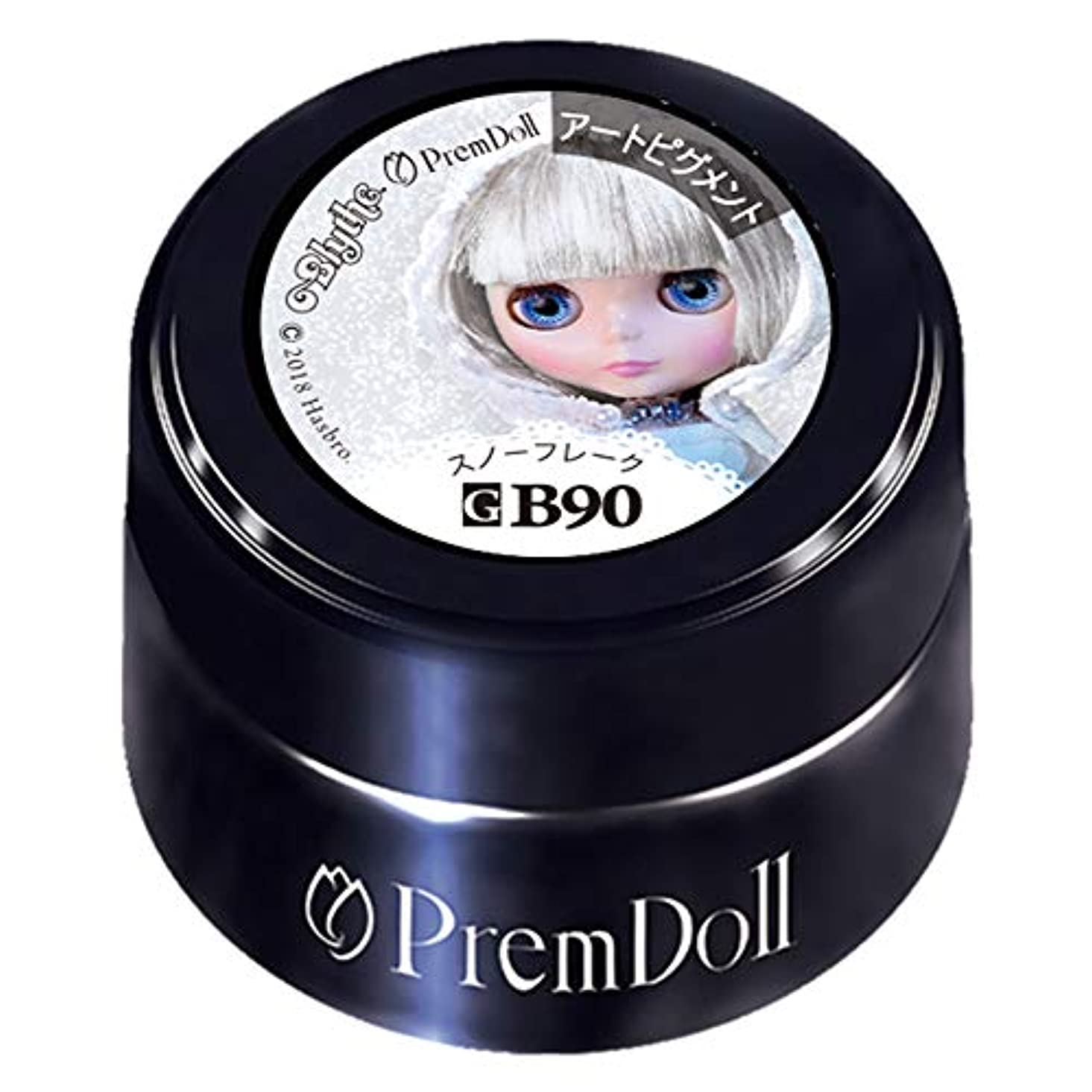 細心の雑多な浪費PRE GEL プリムドール スノーフレーク90 DOLL-B90 3g カラージェル UV/LED対応