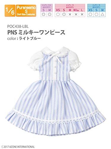 ピュアニーモ用 PNS ミルキーワンピース ライトブルー (ドール用)