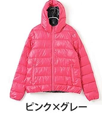 【ピンク×グレー/Lサイズ 1点】philter コアブリッド配合 ヒートファイバーダウンジャケット