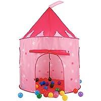 springbuds子再生テント、ピンクプリンセス城テント大きなインドアアウトドアPlayhouse for Girls