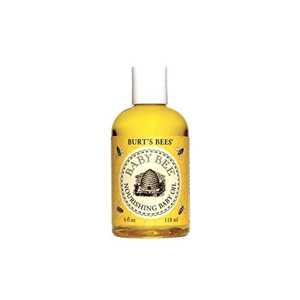 Burt's Bees Baby Bee Nourishing Baby Oil (4 fl 0z / 118ml) (Pack of 4) - バーツビー赤ちゃん蜂栄養ベビーオイル(4フロリダ州0 / 118ミリリットル...