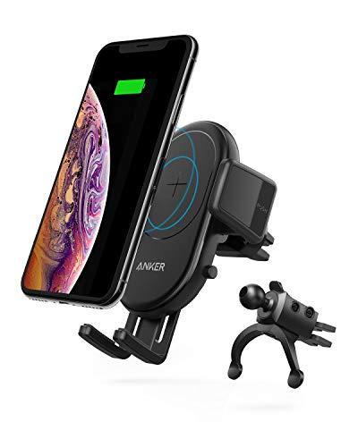 Anker PowerWave 7.5 Car Mount(10W エアコン吹き出し口取り付けワイヤレス充電器)【Qi認証取得/360°回転/急速充電】iPhone XS / XS Max / XR / X / 8 / 8 Plus、Galaxy S9 / S9+ / S8 / S8+、 LG G7、その他Qi対応機種各種対応