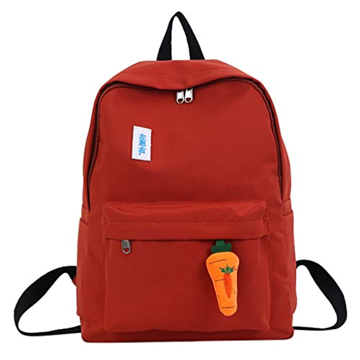 乱暴なレシピレシピ女子学生カジュアルファッションシンプルなバックパック軽量キャンバスバックパックガールズ屋外大容量かわいいヴィンテージバッグ