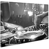 Ashley Giclee Close UpのCDの再生に音楽モダンパーティーDJディスコクラブでのUSBプレーヤー、壁アート写真印刷メタルのパネル、ag6454852 24x30, Float Frame 6454852-AGMP1-FB2430