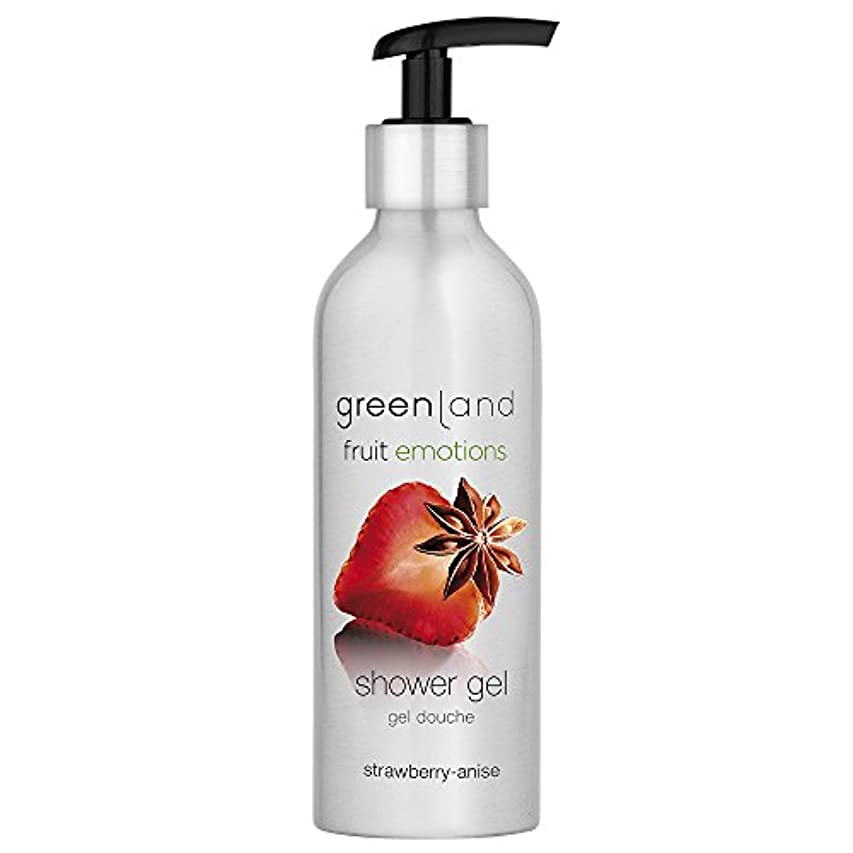 退屈カカドゥ改善するgreenland [FruitEmotions] シャワージェル 200ml ストロベリー&アニス FE0217