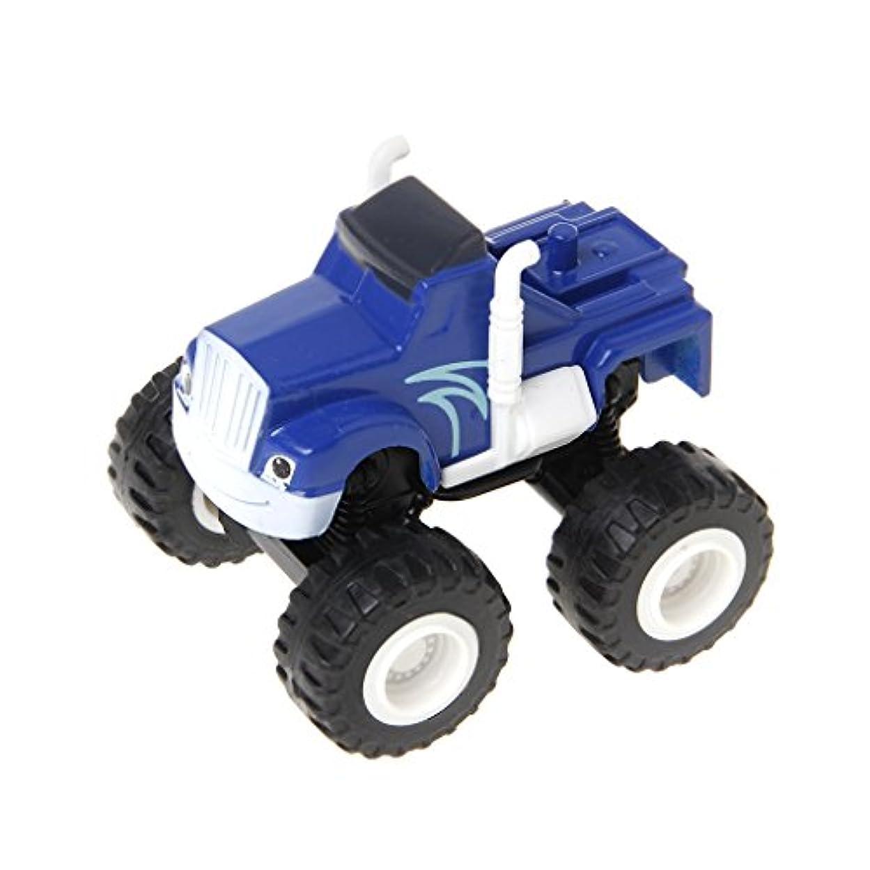 報いるファセット立派なDabixx 車のおもちゃ, 燃え尽きるマシン車のおもちゃのレーサー車トラックのトランスフォーマーのおもちゃのギフト - 青