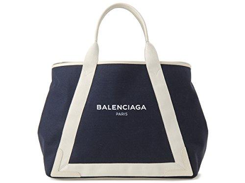 (バレンシアガ) BALENCIAGA トートバッグ 339936 K9H1N 4092 NAVY CABAS M ネイビー カバ キャンバス ブルー レディース [並行輸入品]