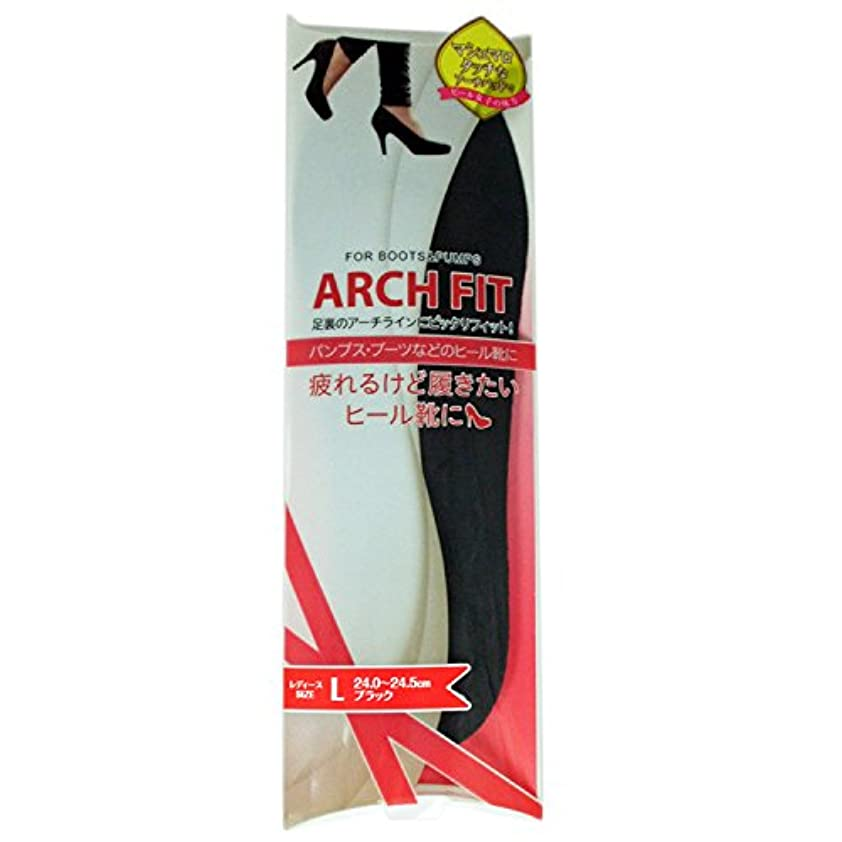 ダニ目指す科学的荒川産業 アーチフィット L ブラック 24-24.5cm [インソール] 通販【全品無料配達】