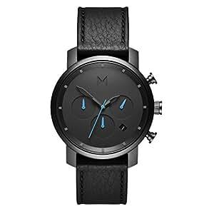 MVMT Watches CHRONO 40mm クロノ 腕時計 革 レザーウォッチ メンズ プレゼント 贈り物 新生活 記念日 ギフト フォーマル カジュアル ペアウォッチ (GUNMETAL BLACK) [並行輸入品]