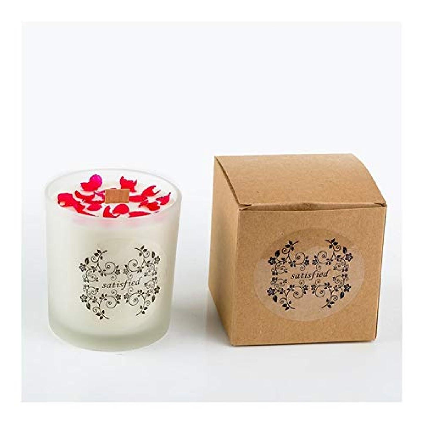 植物学上著者Guomao ロマンチックな香りのキャンドルエッセンシャルオイル大豆ワックスガラスアロマセラピーロマンチックな誕生日ギフトの提案無煙の香り (色 : Blackberries)