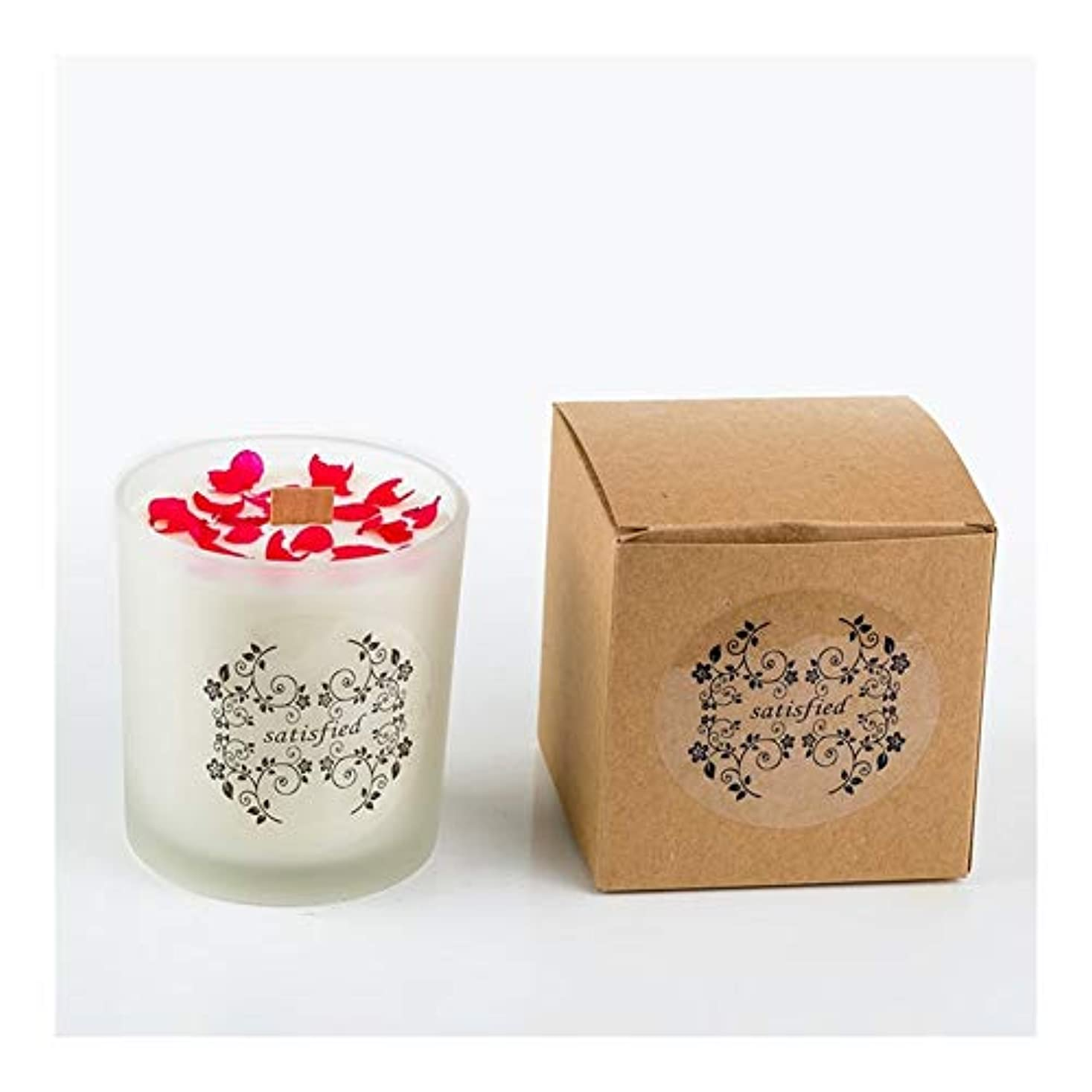 マッサージ裁量戦争ACAO ロマンチックな香りのキャンドルエッセンシャルオイル大豆ワックスガラスアロマセラピーロマンチックな誕生日ギフトの提案無煙の香り (色 : Xiang Xuelan)