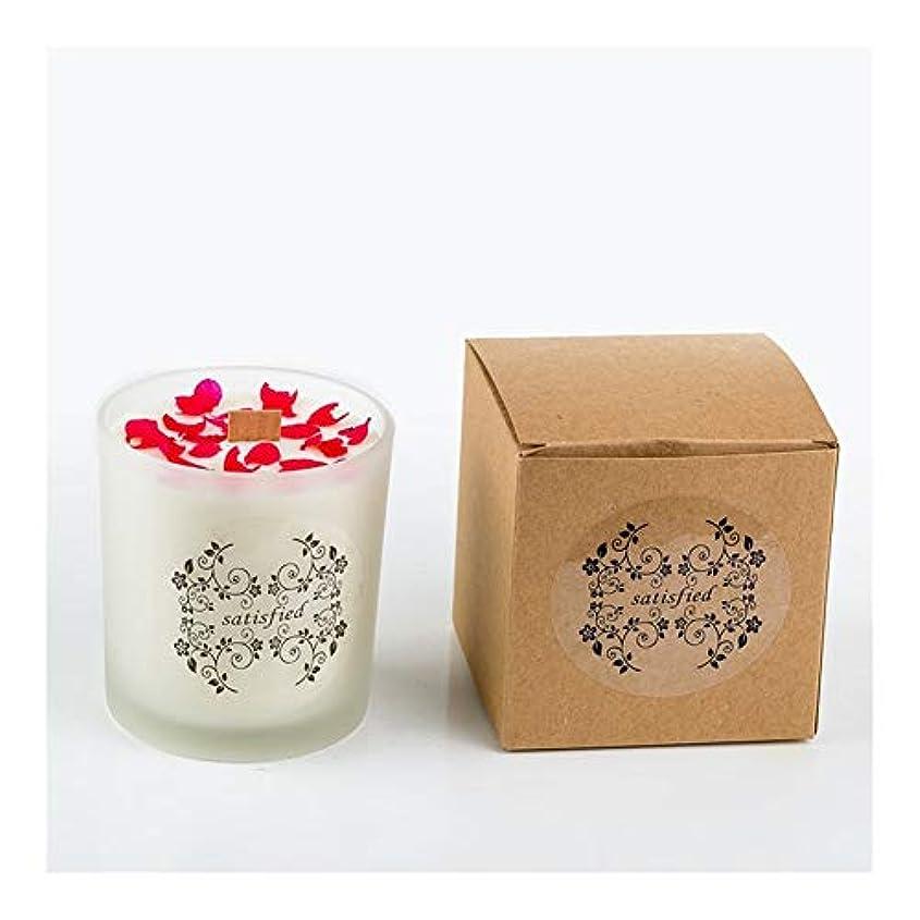 神秘セッティング持っているACAO ロマンチックな香りのキャンドルエッセンシャルオイル大豆ワックスガラスアロマセラピーロマンチックな誕生日ギフトの提案無煙の香り (色 : Xiang Xuelan)
