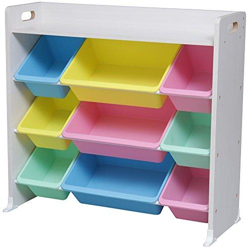 アイリスオーヤマ おもちゃ箱 キッズ トイハウスラック 天板付 パステル 幅86.3×奥行34.8×高さ79.5cm TKTHR-39