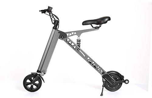 二輪折りたたみ 電動バイク バッテリー18650リチウム電池 25〜30KMまでの完全なバッテリー寿命の走行距離です (シルバー)