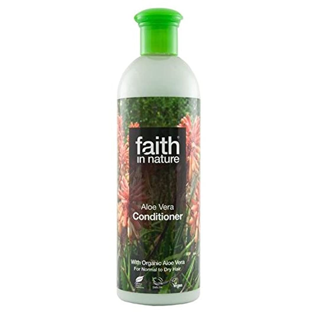 バター公演共産主義者Faith in Nature Aloe Vera Conditioner 400ml (Pack of 2) - (Faith In Nature) 自然アロエベラコンディショナー400ミリリットルの信仰 (x2) [...